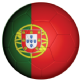 Portugal Football Flag 58mm Button Badge